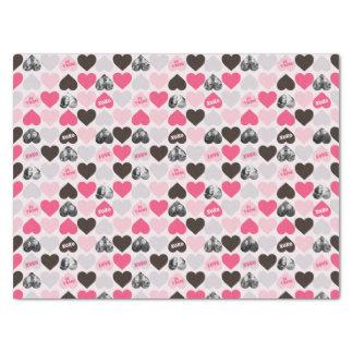 Tissue Paper - Custom Valentine's Day Heart Photo Collage Tissue Paper