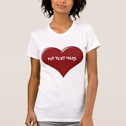 Custom Valentine's Day Heart T-Shirt