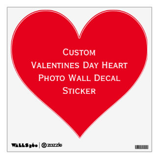 Custom Valentines Day Red Heart Photo Wall Decal