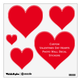 Custom Valentines Day Red Hearts Photo Wall Decal