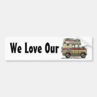 Custom Van Camper RV Bumper Sticker Etiqueta De Parachoque