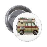 Custom Van Camper RV Button Pin Redondo De 2 Pulgadas