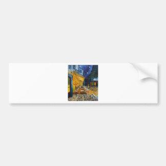 Custom Van Gogh Cafe Terrace Vintage Fine Art Bumper Sticker