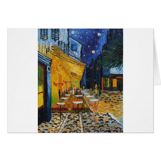 Custom Van Gogh Cafe Terrace Vintage Fine Art Card