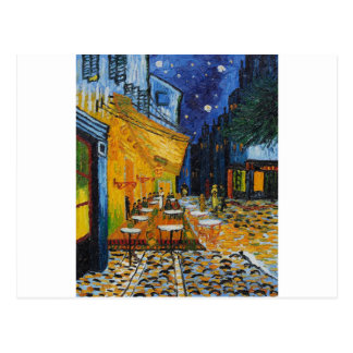 Custom Van Gogh Cafe Terrace Vintage Fine Art Post Card