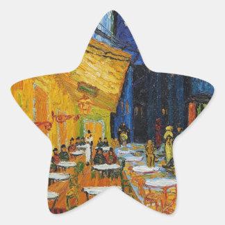 Custom Van Gogh Cafe Terrace Vintage Fine Art Star Sticker
