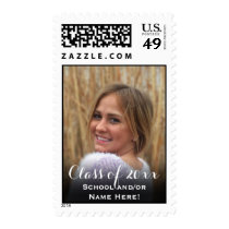Custom Vertical Graduation Postage Photo Plus Year