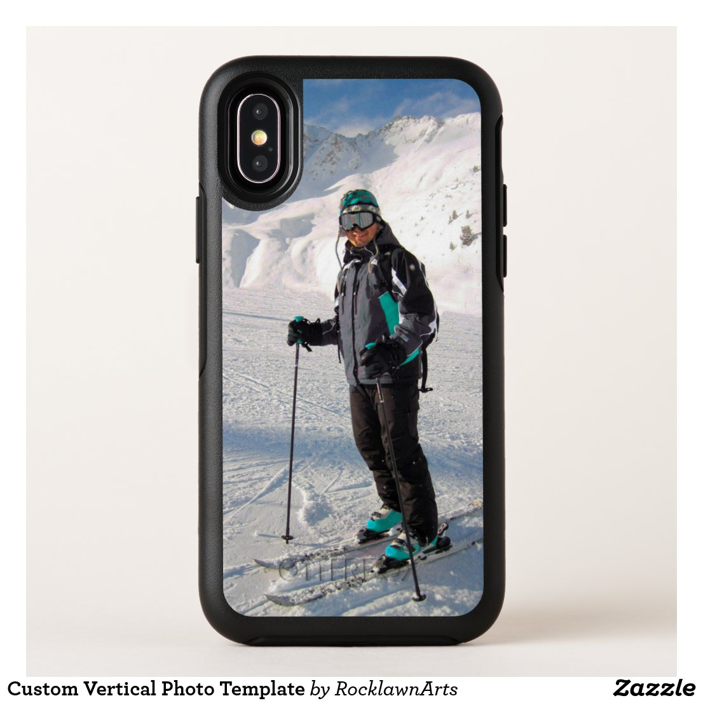 Custom Vertical Photo Template OtterBox Symmetry iPhone X Case