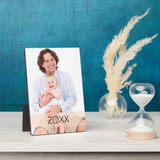 Custom Vertical Photo Year Gift Plaque
