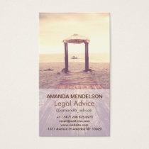 Custom Vertical photography overlay template Business Card