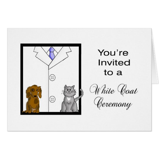 Custom Veterinarian White Coat Ceremony Invitation | Zazzle
