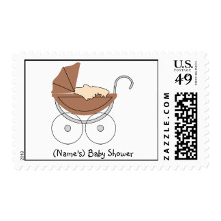 Custom Vintage Baby Buggy/Stroller Stamp