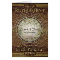Custom Vintage Book Retirement Card