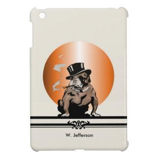 Custom Vintage Bulldog with Cigar and Top Hat iPad Mini Cover