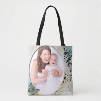 Custom Vintage Butterfly Tote Bag for Mother's Day