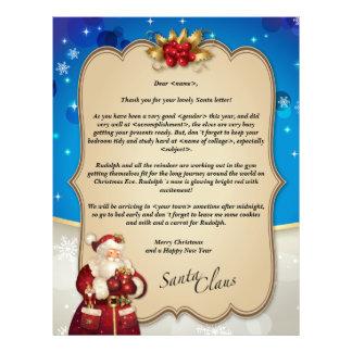 Custom vintage Christmas blue letter from Santa… Letterhead