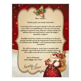 Custom vintage Christmas red letter from Santa… Letterhead