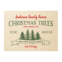 Custom Vintage Christmas Tree Farm Wood Sign