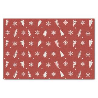 Custom Vintage Christmas Tree Pattern Tissue Paper