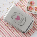 Custom vintage country chic mason jar cake pan