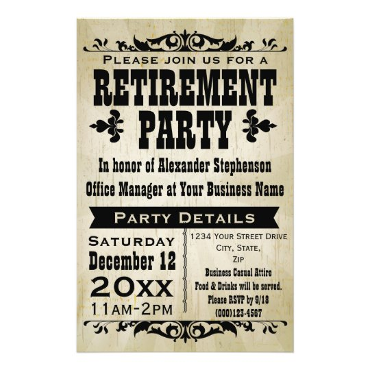 flyers for retirement party