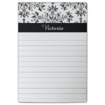 Custom Vintage Daisy Floral Art Lined Stickie Post-it Notes