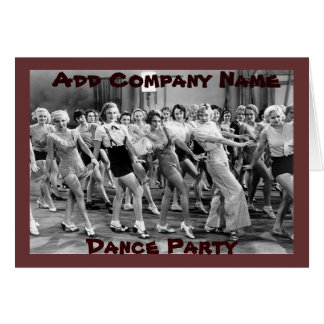 Custom Vintage Dance Party Coworker Birthday Card