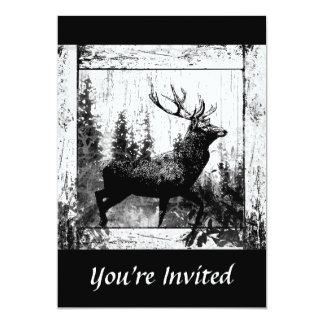 Custom Vintage Design Stag, Bachelor Party Invite
