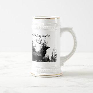 Custom Vintage Design Stag, Bachelor Party 18 Oz Beer Stein