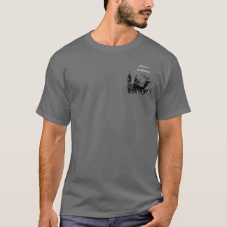 Custom Vintage Design Stag Deer, Business Logo T-Shirt