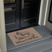 Custom Vintage Donkey - Country Farm and Pets Doormat