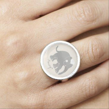 Bride Themed Custom vintage elephant bride say yes engagement rings
