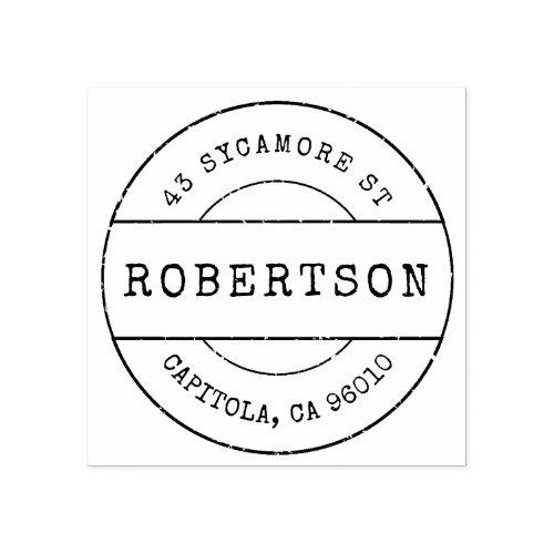 Custom Vintage Family Name Return Address Rubber Stamp