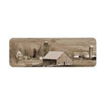 Custom Vintage Farm Return Address Label