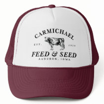 Custom Vintage Farmhouse Style Feed Trucker Hat
