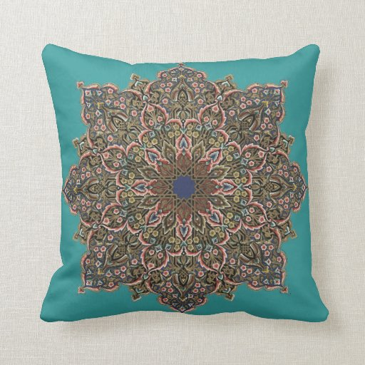 Custom Vintage Floral Mandala Design Throw Pillows Zazzle
