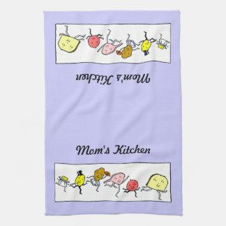 Custom Vintage Food Art Kitchen Towel