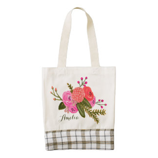 Custom | Vintage Garden Zazzle HEART Tote Bag