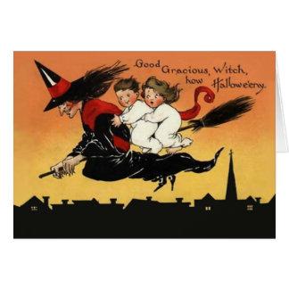 Custom Vintage Halloween Greeting Card