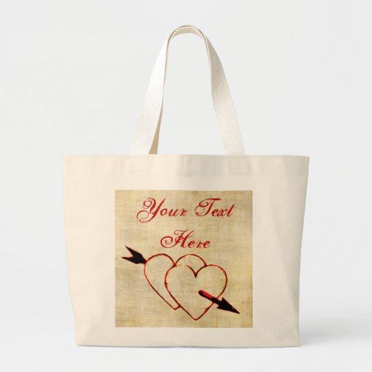 Custom Vintage Hearts Tote Bag