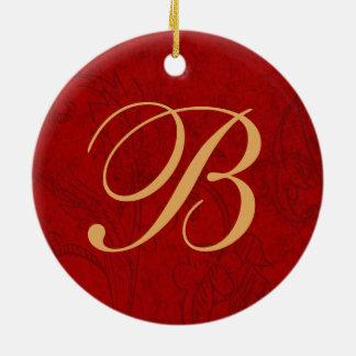 Custom Vintage Holiday Photo Ornaments w/ Monogram Christmas Ornament