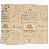 Custom Vintage Look Family Tree Wedding Album 3 Ring Binder