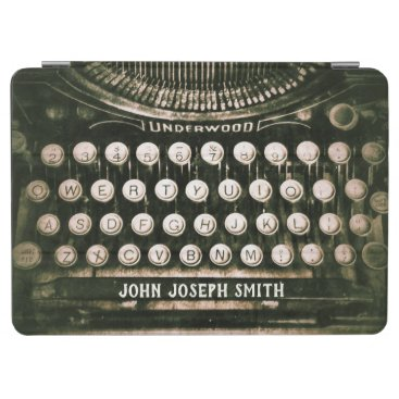 Custom Vintage Qwerty Typewriter Keyboard iPad Air Cover
