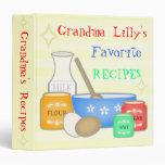 Custom Vintage Recipe Avery Binder