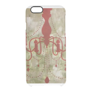 Custom Vintage Red Chandelier Uncommon Clearly™ Deflector iPhone 6 Case