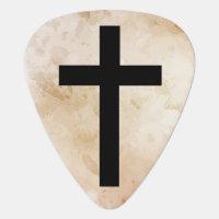 Custom Vintage Religious Cross Guitar Pick