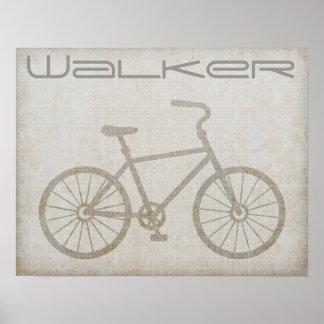 Custom Vintage Retro Bike Bicyclist Poster