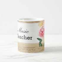 Custom Vintage Sheet Music Mug
