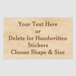 Custom Vintage Stickers or Blank Stickers in BULK
