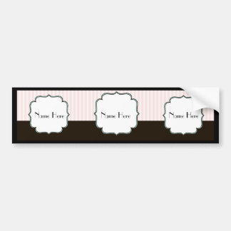 Custom Vintage Style French Theme Bumper Sticker